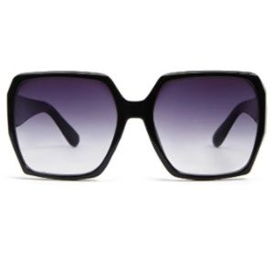 New, oversized black frame sunglasses